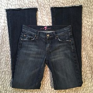 7 for All Mankind Jeans   Pink Stitching   26x32